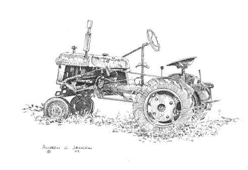 Small farm tractor
